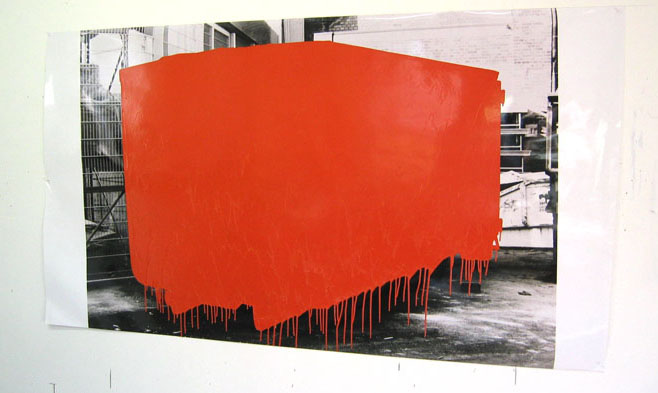 J.Beech, Dumpster Drawing (Orange), 2005<br />