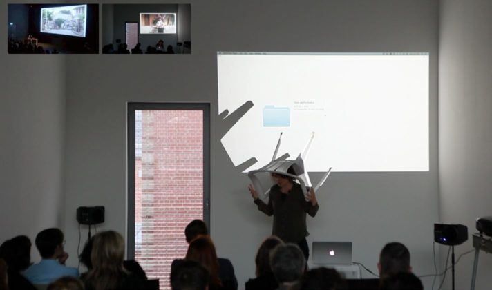 Live performance of Chair man at Kask, Gent (BE), 2014 video HD and live spoken narration, duration approx 30 min