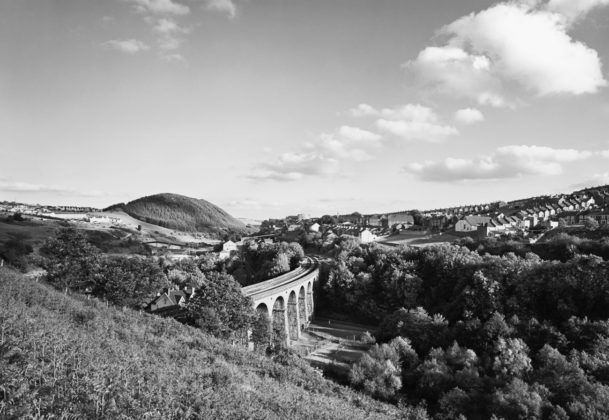 John Davies, 25, Bargoed Viaduct, Rhymney Valley, 1984