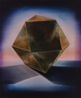 Cuboctahedron, 2018, acrylic and oil on canvas, 60x50 cm