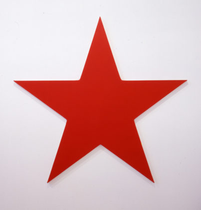 Olivier Mosset, Red Star, 1990, 150 x 150 cm