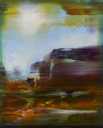 Paysage rêvé Canyonland, 2018, acrylic and oil on canvas, 41x33cm
