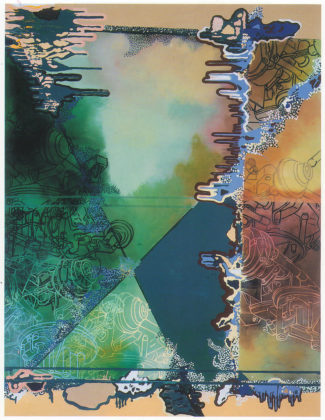 The Spinal Contractions of The Bio-Urban Model, 2000, 213,5 x 167,5 cm